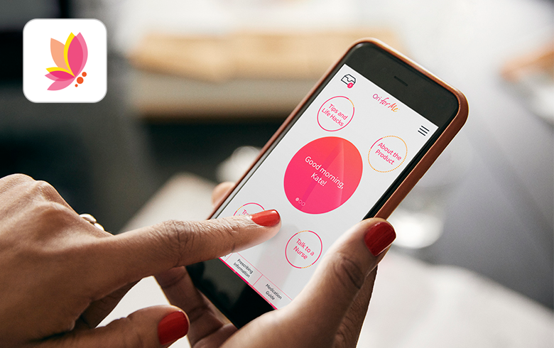 Get access to endometriosis pain and wellness tracking, endometriosis tips and life hacks, and one-on-one support with the free Ori for Me app.